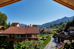 Ferienwohnung Eibsee - Ausblick Balkon Ost